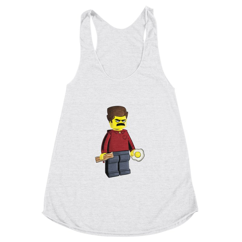 Lego Ron Women's Racerback Triblend Tank by Justin Peterson