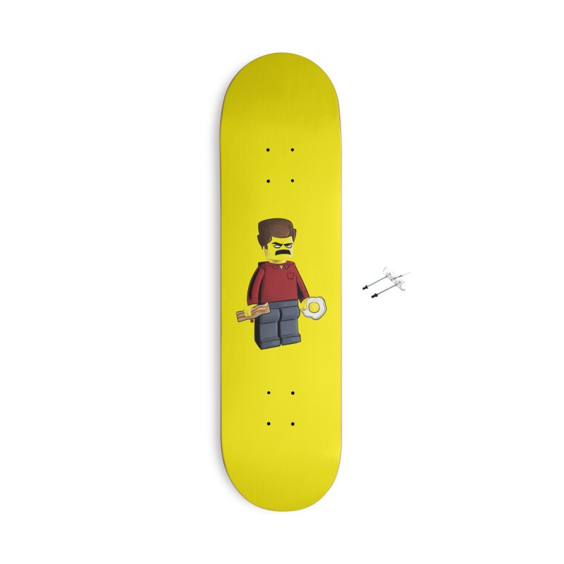 Lego Ron Accessories With Hanging Hardware Skateboard by Justin Peterson