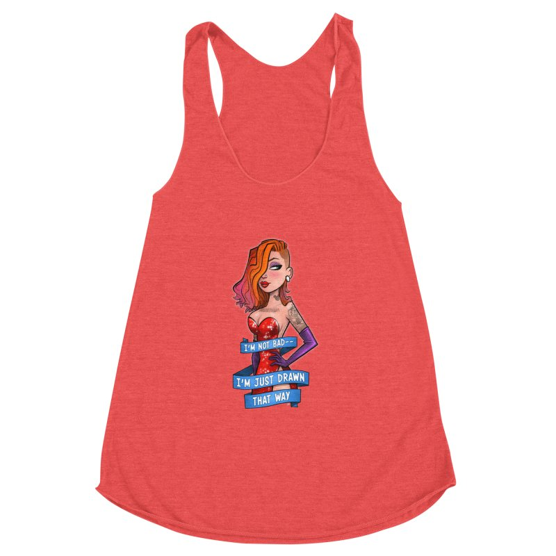 I'm Just Drawn That Way Women's Racerback Triblend Tank by Justin Peterson