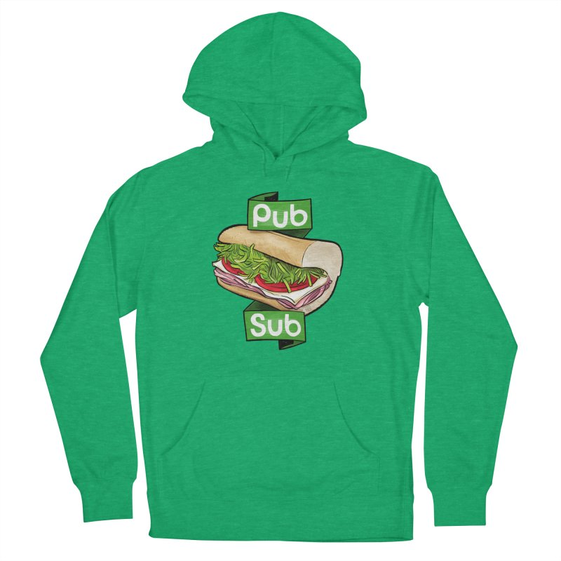 Pub Sub Women's French Terry Pullover Hoody by Justin Peterson