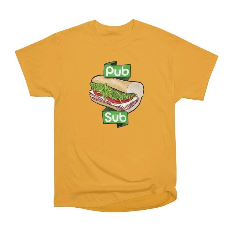 Pub Sub Men's Heavyweight T-Shirt by Justin Peterson
