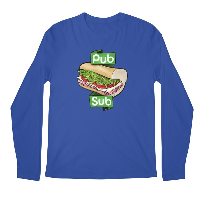Pub Sub Men's Regular Longsleeve T-Shirt by Justin Peterson