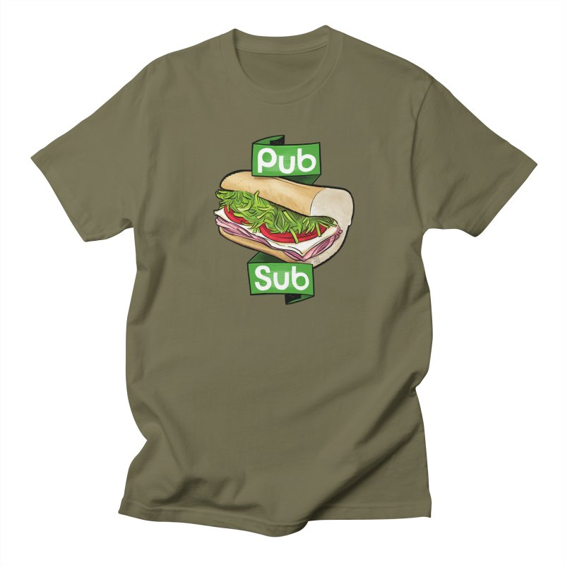 Pub Sub Men's Regular T-Shirt by Justin Peterson