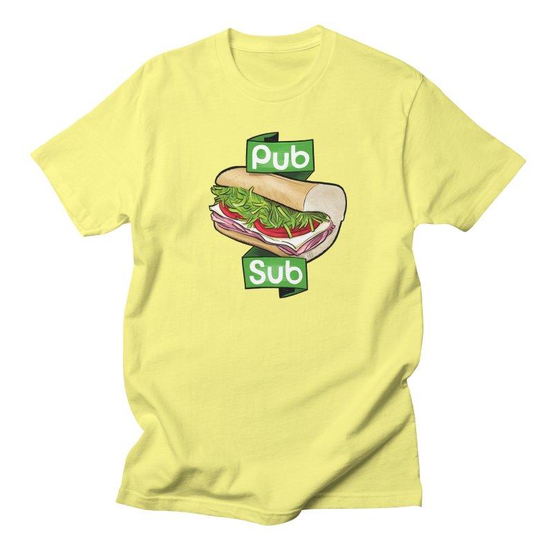 Pub Sub Women's Regular Unisex T-Shirt by Justin Peterson