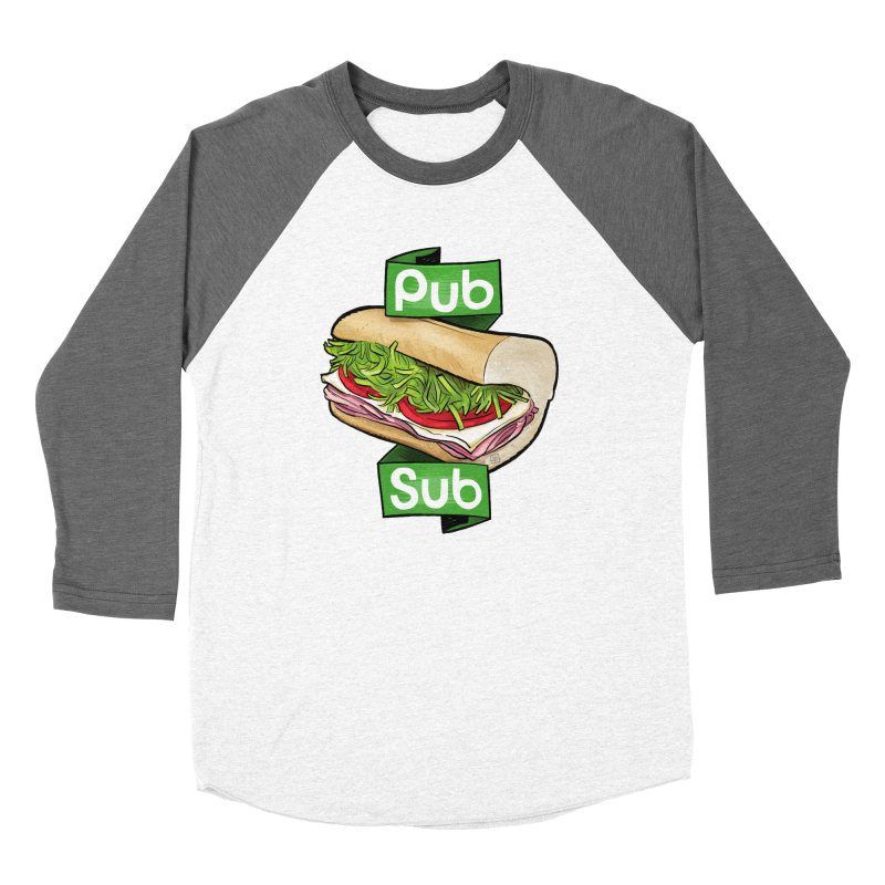 Pub Sub Women's Baseball Triblend Longsleeve T-Shirt by Justin Peterson