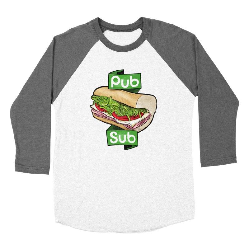 Pub Sub Men's Baseball Triblend Longsleeve T-Shirt by Justin Peterson