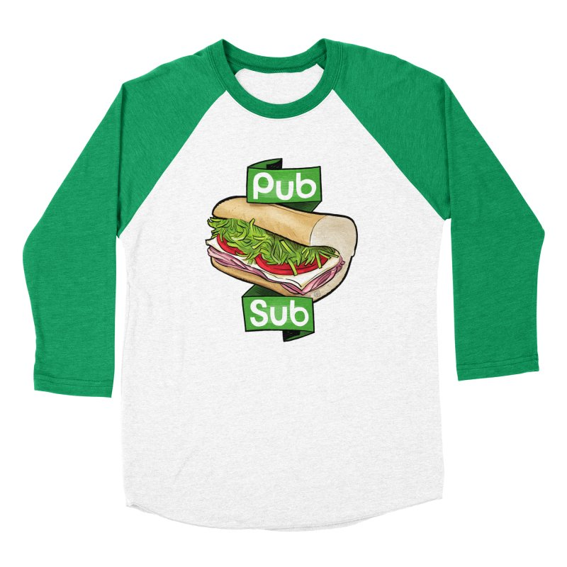 Pub Sub Men's Baseball Triblend Longsleeve T-Shirt by Justin Peterson