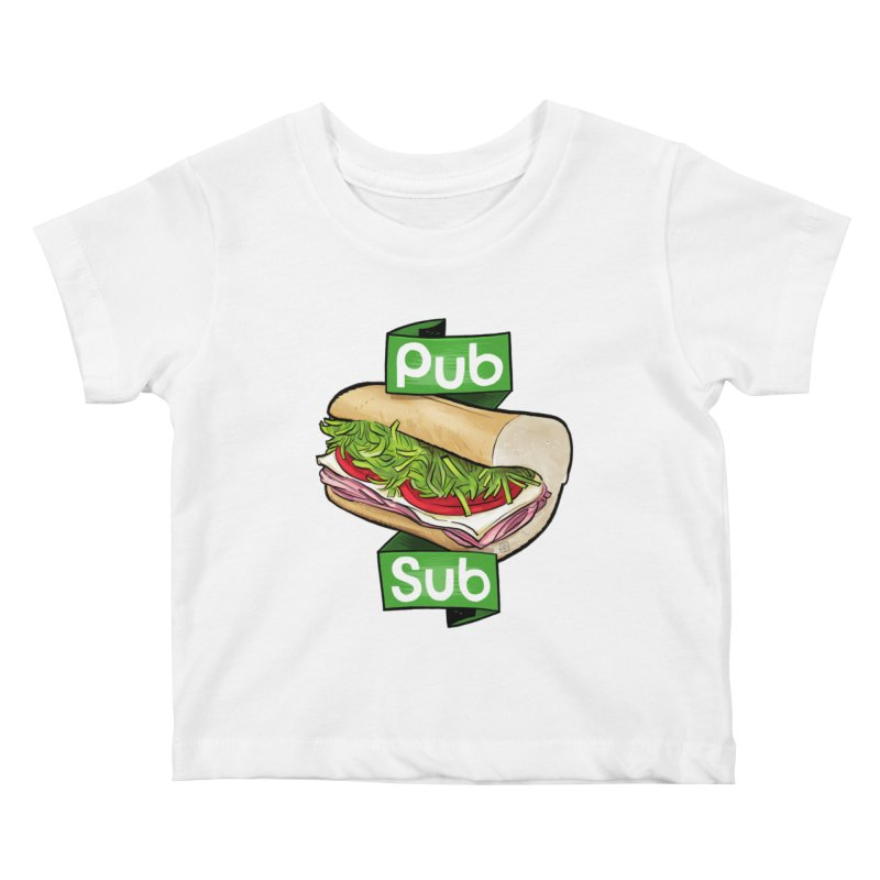 Pub Sub Kids Baby T-Shirt by Justin Peterson