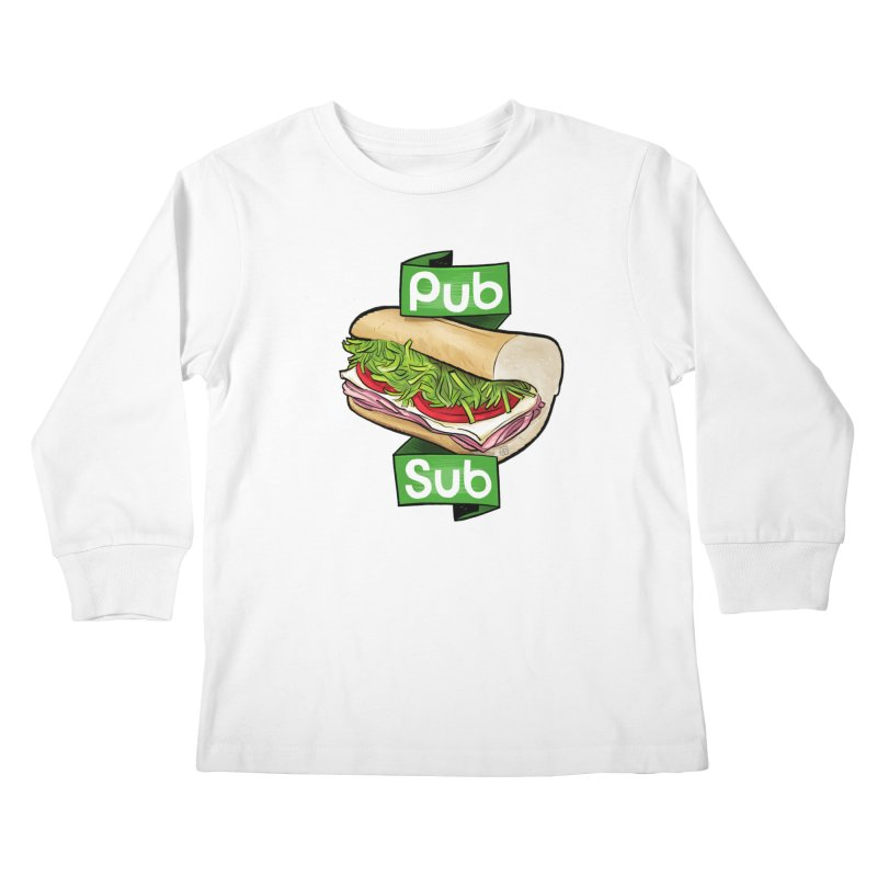 Pub Sub Kids Longsleeve T-Shirt by Justin Peterson