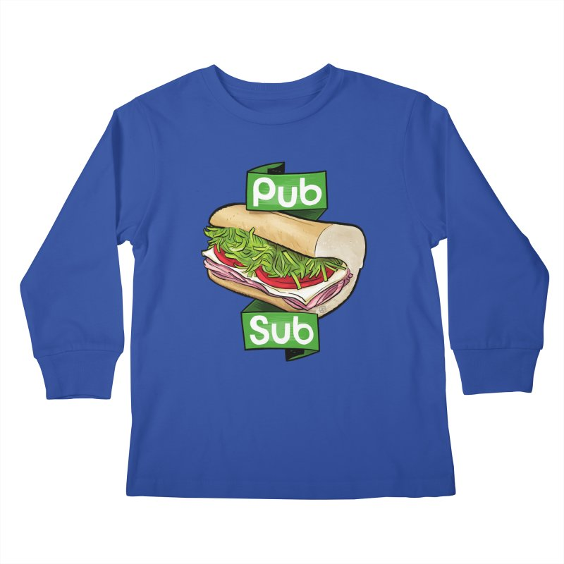Pub Sub Kids Longsleeve T-Shirt by Justin Peterson