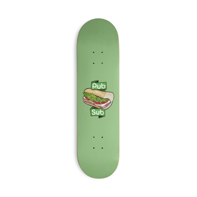 Pub Sub Accessories Deck Only Skateboard by Justin Peterson