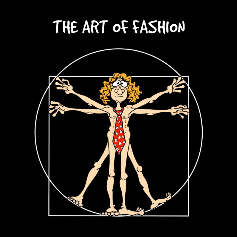 Vitruvian Man in white None  by Justoutsidebox's Artist Shop