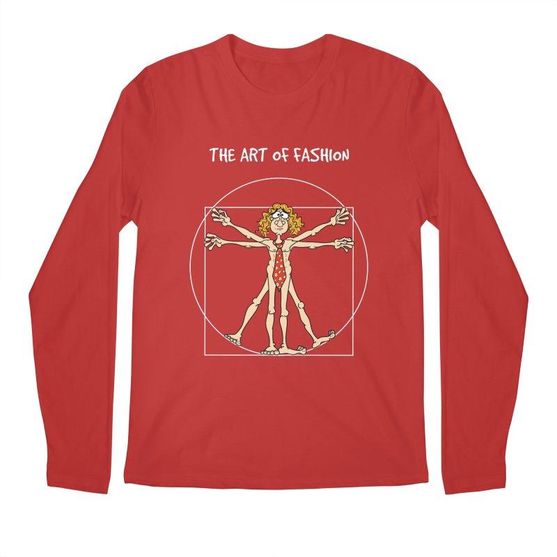 Vitruvian Man in white Men's Longsleeve T-Shirt by Justoutsidebox's Artist Shop