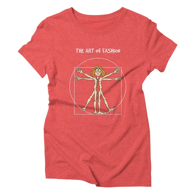 Vitruvian Man in white Women's Triblend T-Shirt by Justoutsidebox's Artist Shop