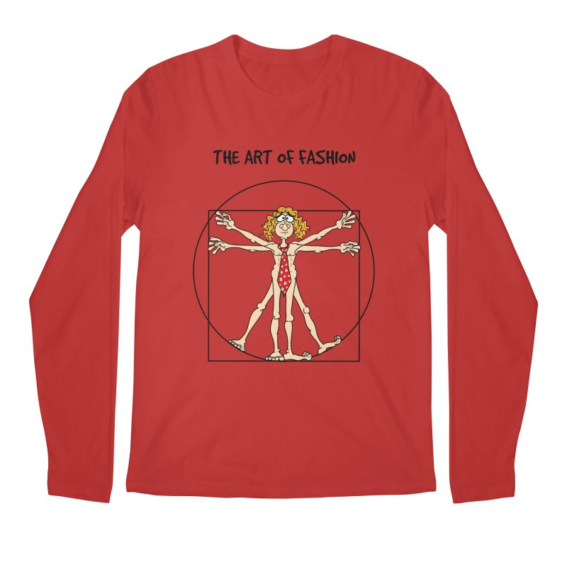 Vitruvian man in black Men's Longsleeve T-Shirt by Justoutsidebox's Artist Shop