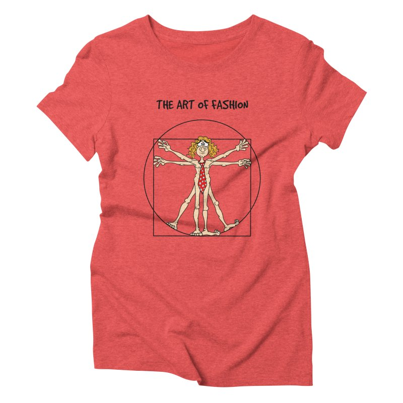Vitruvian man in black Women's Triblend T-Shirt by Justoutsidebox's Artist Shop