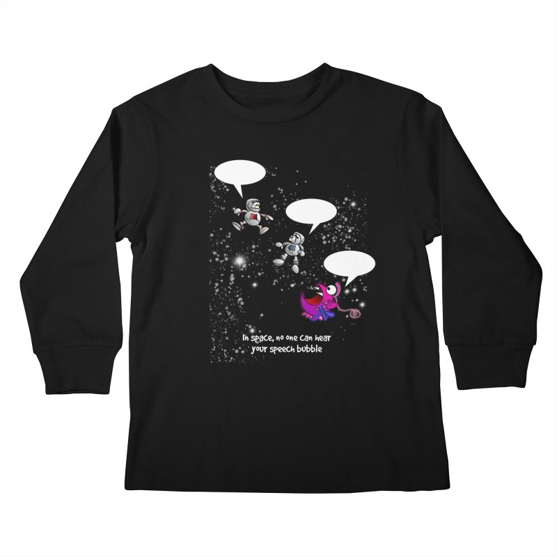 In space, no one can hear you scream Kids Longsleeve T-Shirt by Justoutsidebox's Artist Shop