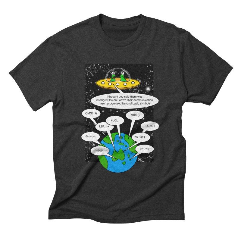 Human intelligence Men's Triblend T-shirt by Justoutsidebox's Artist Shop