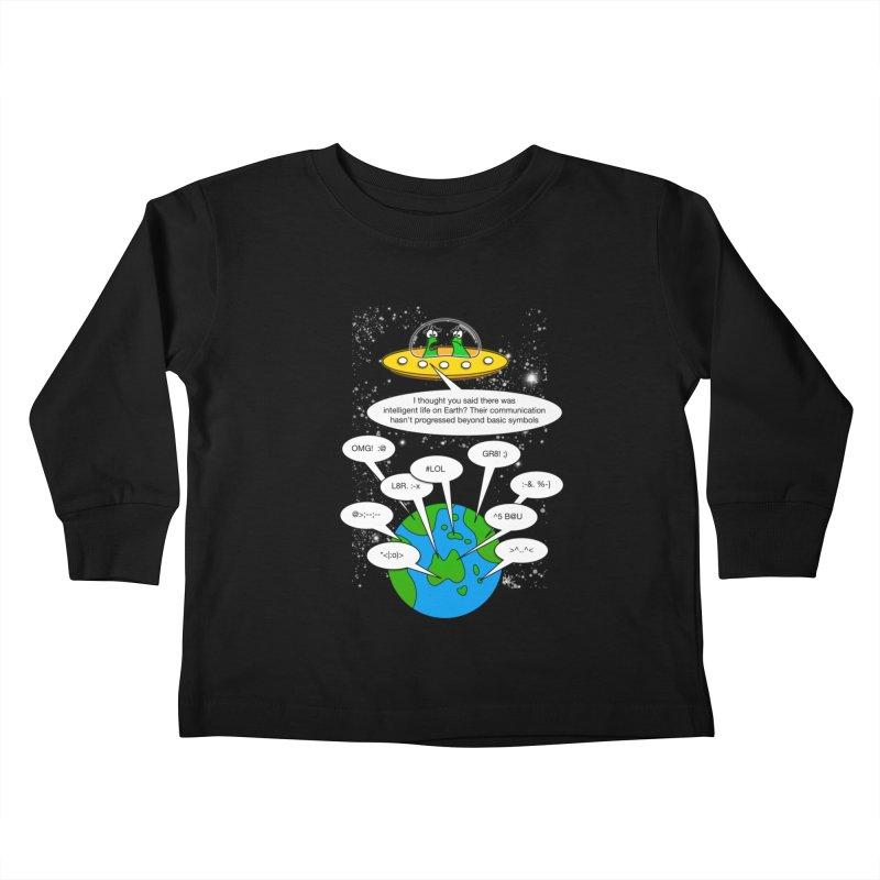 Human intelligence Kids Toddler Longsleeve T-Shirt by Justoutsidebox's Artist Shop