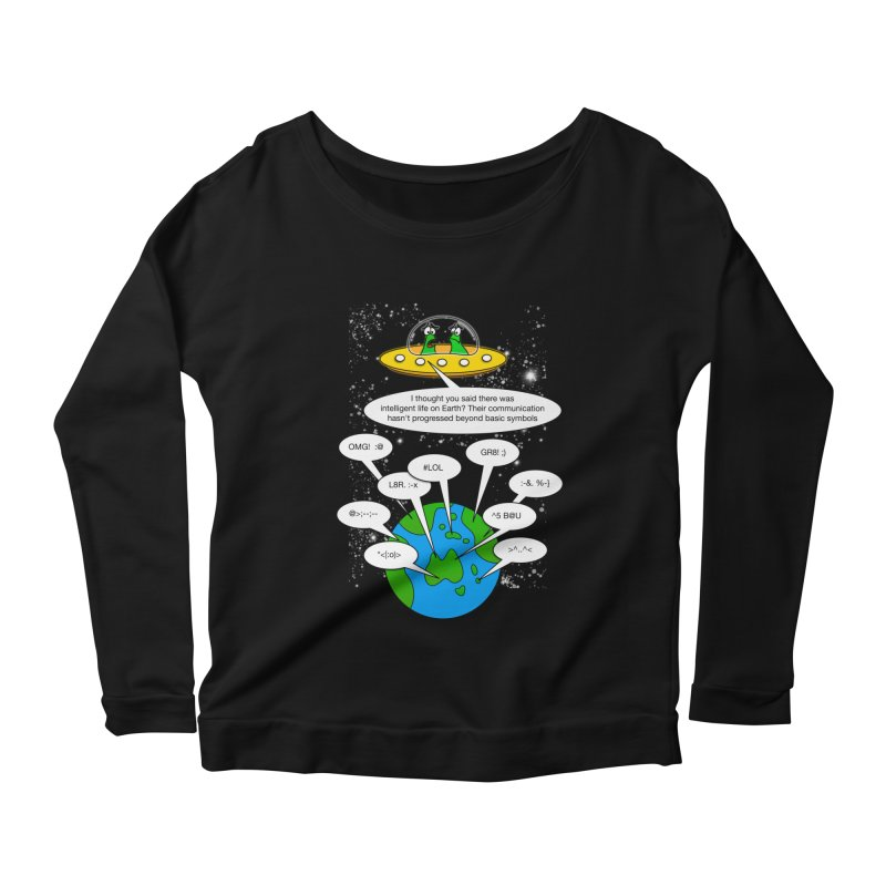 Human intelligence Women's Longsleeve Scoopneck  by Justoutsidebox's Artist Shop