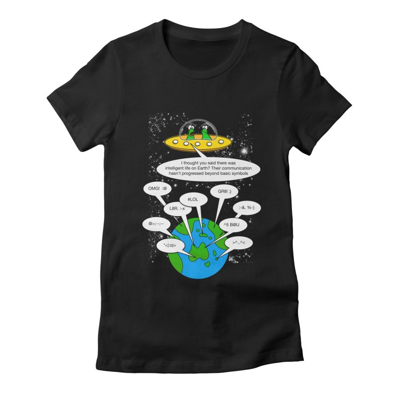 Human intelligence Women's Fitted T-Shirt by Justoutsidebox's Artist Shop