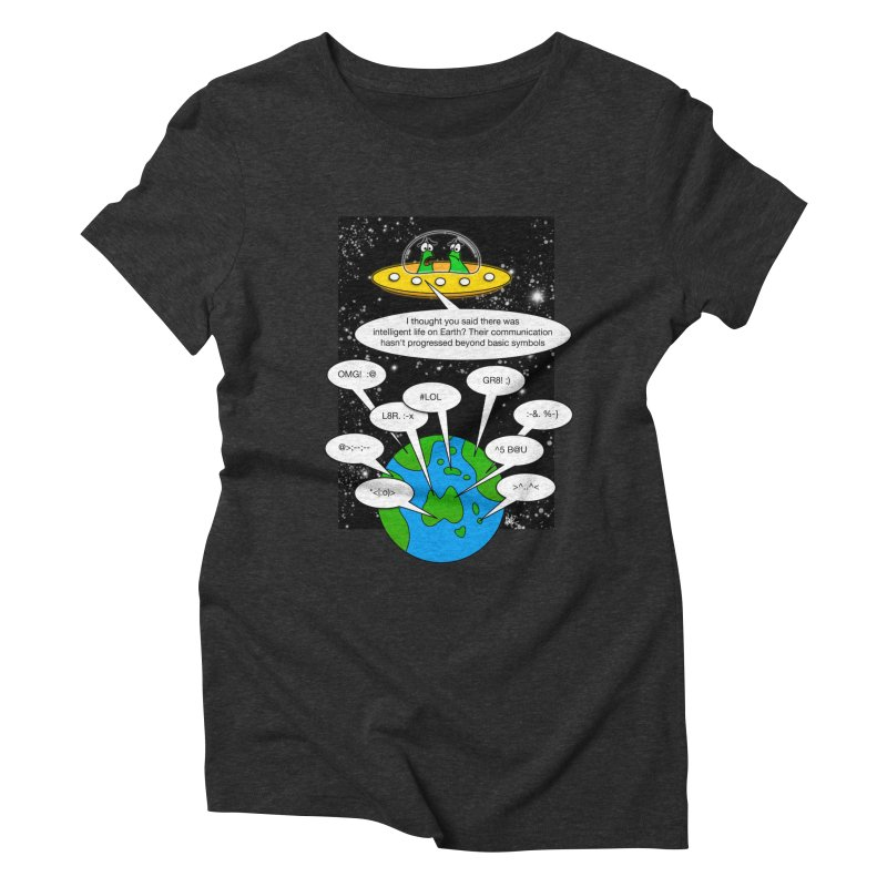 Human intelligence Women's Triblend T-Shirt by Justoutsidebox's Artist Shop