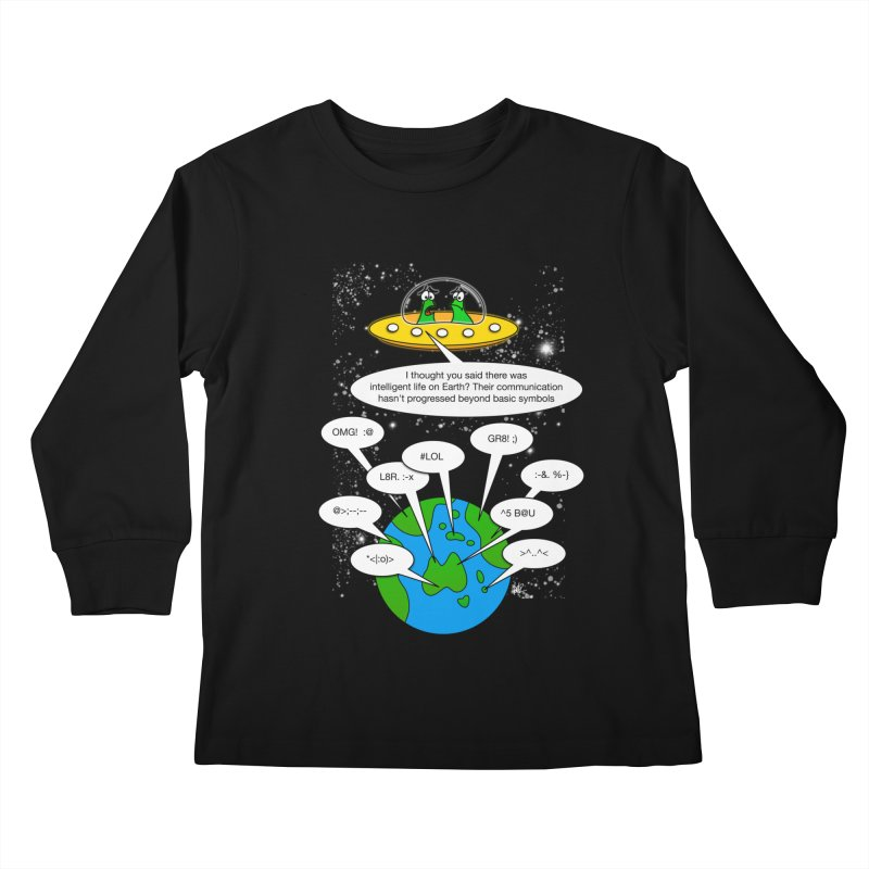 Human intelligence Kids Longsleeve T-Shirt by Justoutsidebox's Artist Shop