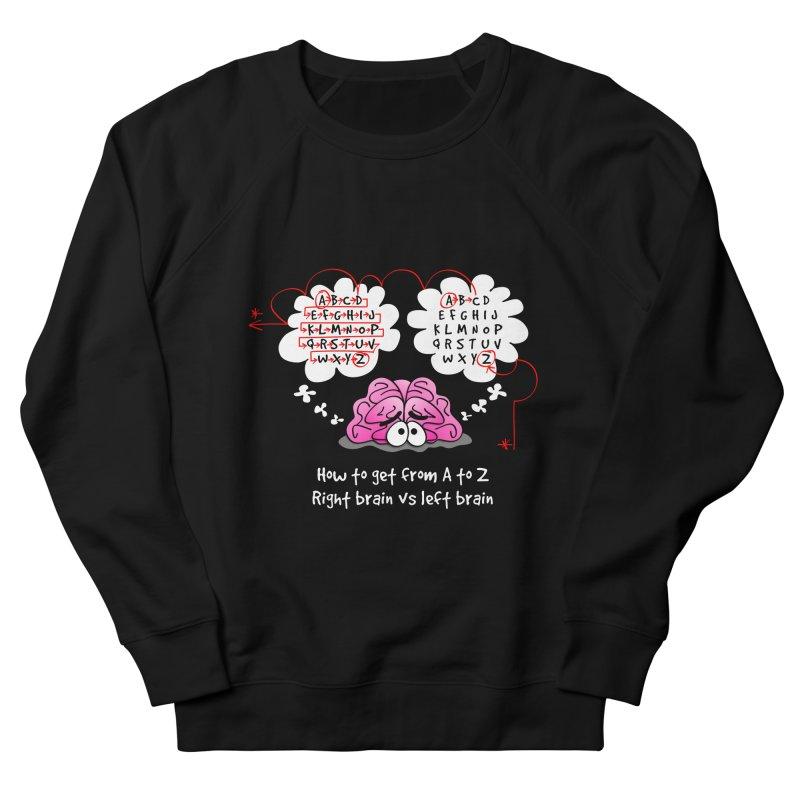 Right brain vs left brain Men's Sweatshirt by Justoutsidebox's Artist Shop