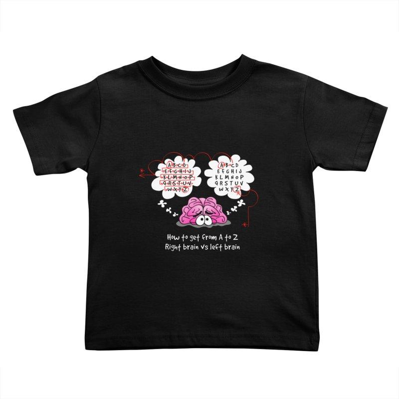 Right brain vs left brain Kids Toddler T-Shirt by Justoutsidebox's Artist Shop
