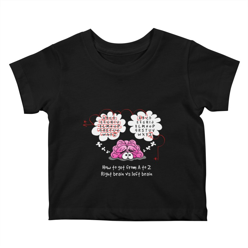 Right brain vs left brain Kids Baby T-Shirt by Justoutsidebox's Artist Shop