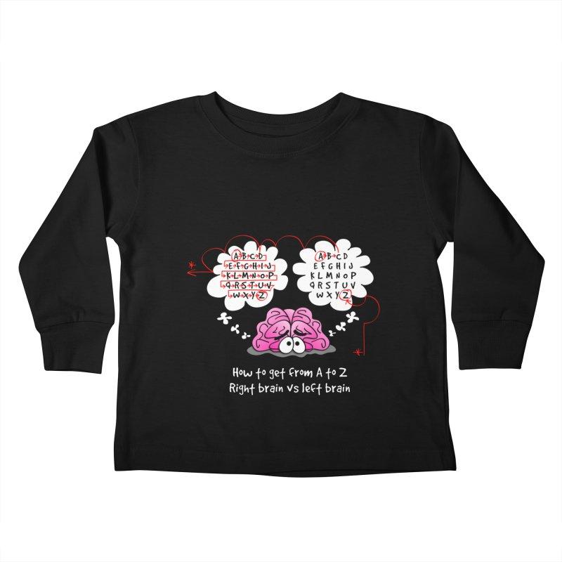 Right brain vs left brain Kids Toddler Longsleeve T-Shirt by Justoutsidebox's Artist Shop