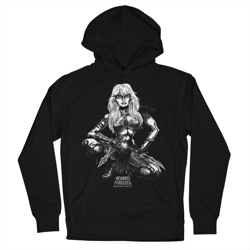 Barbaro Tiger Queen Men's French Terry Pullover Hoody by KINGMAKERS's Artist Shop