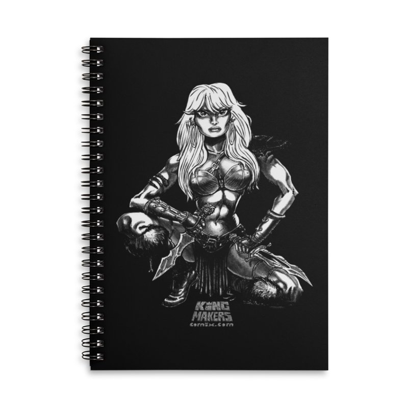 Barbaro Tiger Queen Accessories Lined Spiral Notebook by KINGMAKERS's Artist Shop