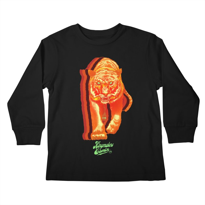 Detroit King  Kids Longsleeve T-Shirt by KINGMAKERS's Artist Shop