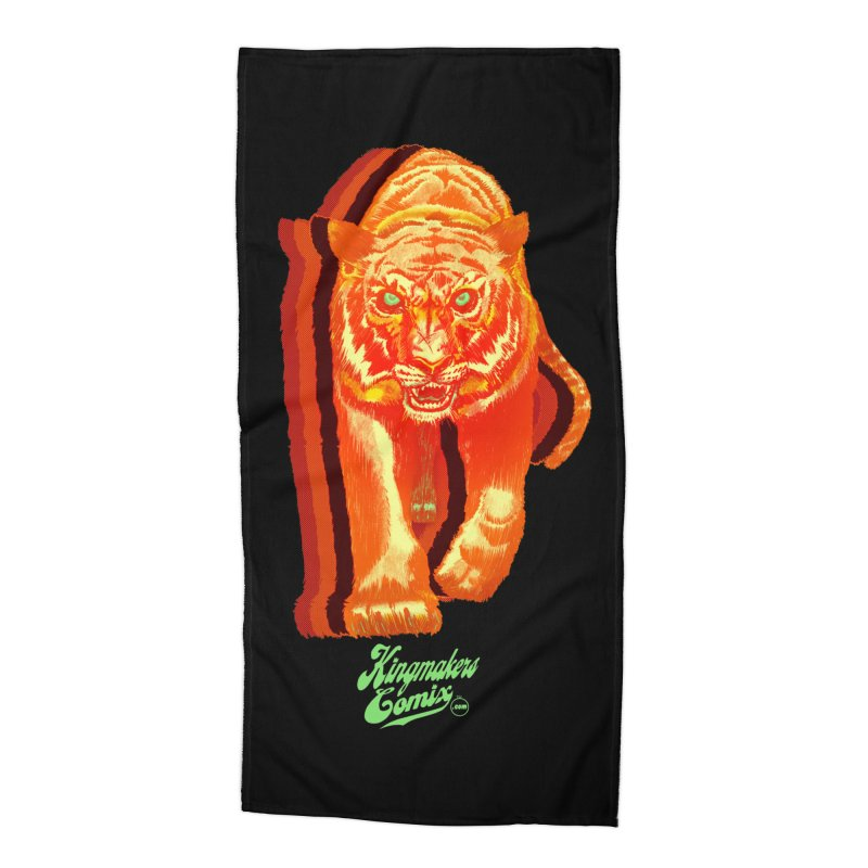 Detroit King  Accessories Beach Towel by KINGMAKERS's Artist Shop
