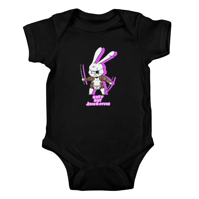 Cute but Dangerous Kids Baby Bodysuit by KINGMAKERS's Artist Shop