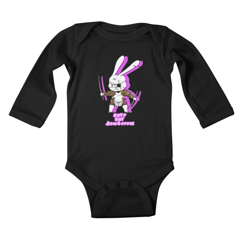 Cute but Dangerous Kids Baby Longsleeve Bodysuit by KINGMAKERS's Artist Shop