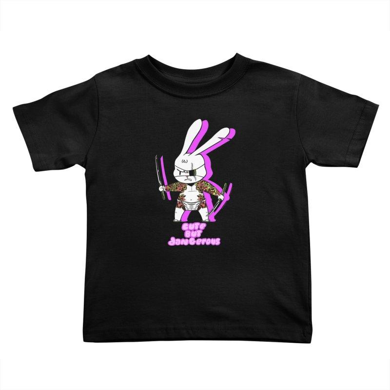 Cute but Dangerous Kids Toddler T-Shirt by KINGMAKERS's Artist Shop