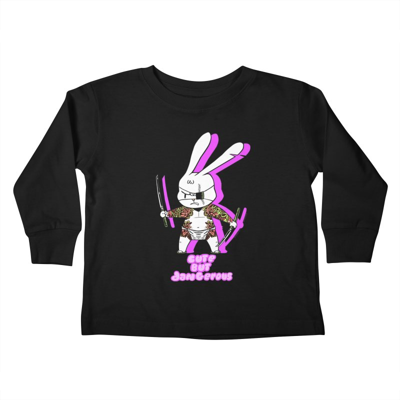Cute but Dangerous Kids Toddler Longsleeve T-Shirt by KINGMAKERS's Artist Shop