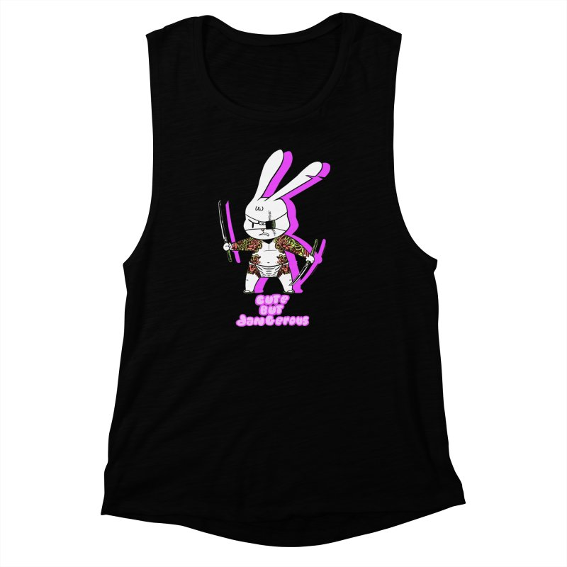Cute but Dangerous Women's Muscle Tank by KINGMAKERS's Artist Shop