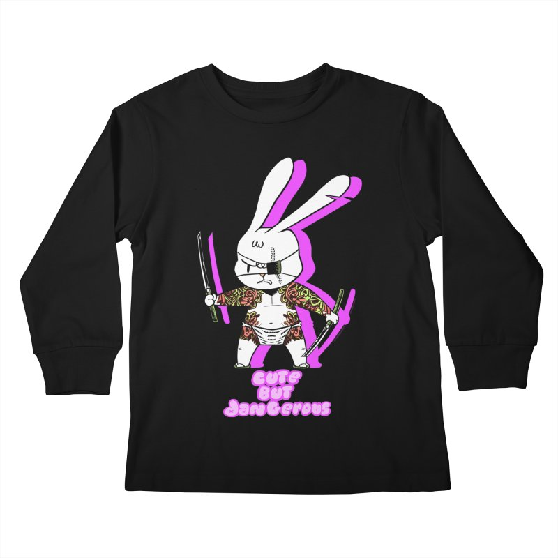 Cute but Dangerous Kids Longsleeve T-Shirt by KINGMAKERS's Artist Shop