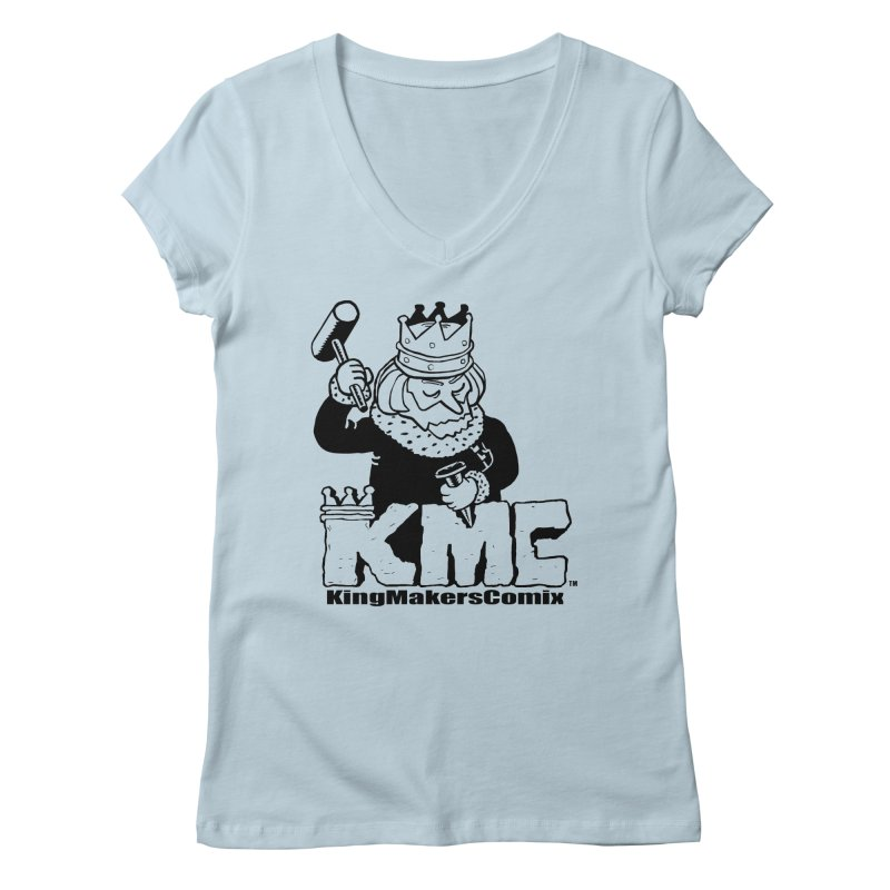 King Made Women's V-Neck by KINGMAKERS's Artist Shop
