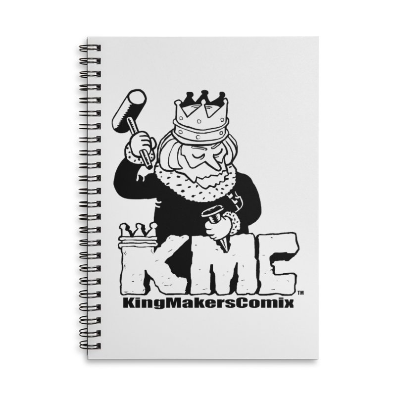 King Made Accessories Lined Spiral Notebook by KINGMAKERS's Artist Shop