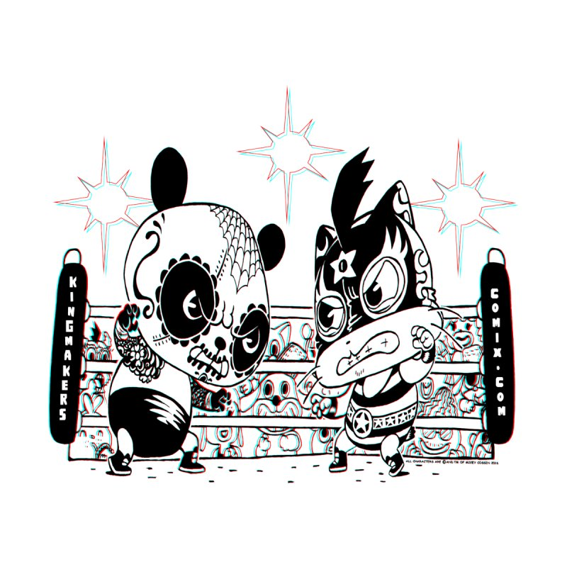 Panda Kid Vs. Mikey None  by KINGMAKERS's Artist Shop