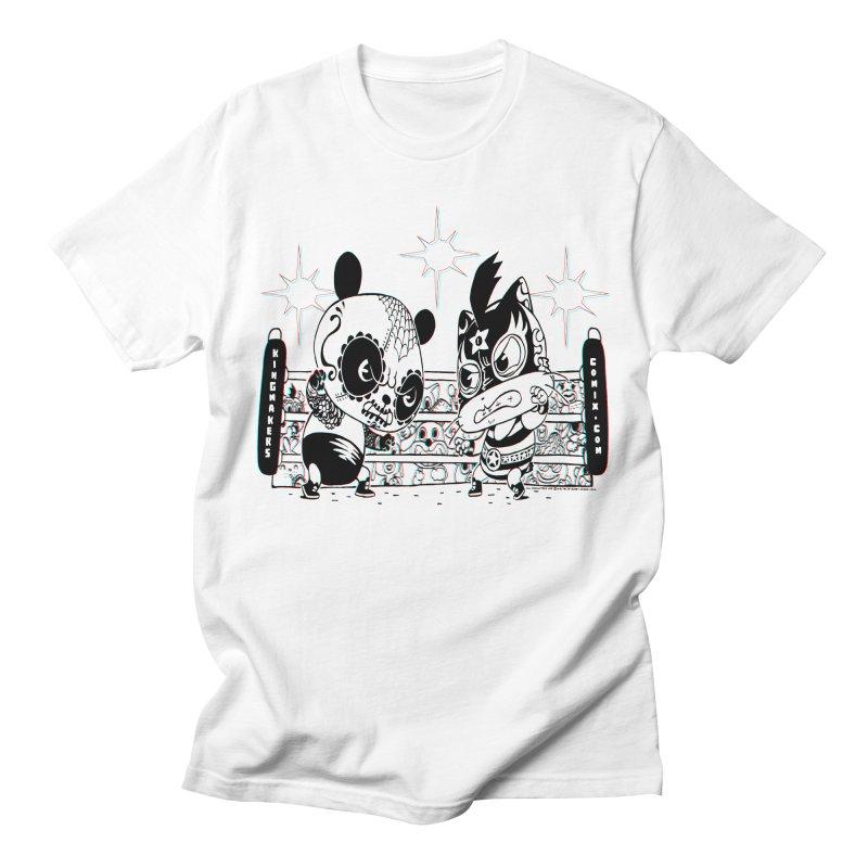 Panda Kid Vs. Mikey Men's T-Shirt by KINGMAKERS's Artist Shop