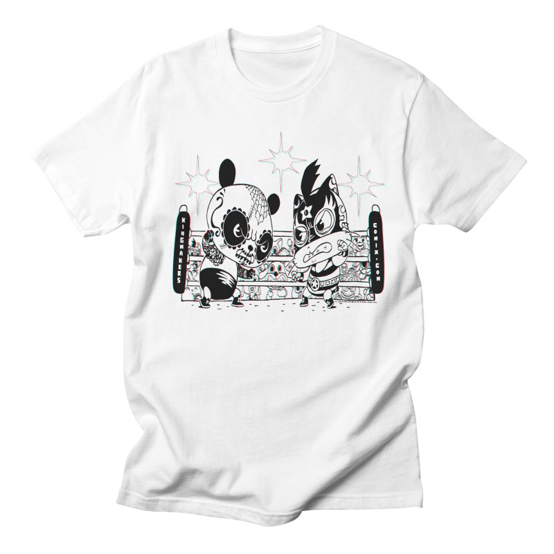 Panda Kid Vs. Mikey Men's T-Shirt by KINGMAKERS's Artist Shop