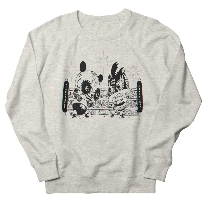 Panda Kid Vs. Mikey Men's Sweatshirt by KINGMAKERS's Artist Shop