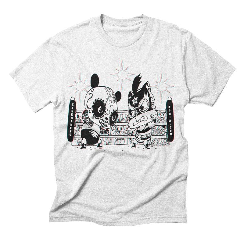 Panda Kid Vs. Mikey Men's Triblend T-shirt by KINGMAKERS's Artist Shop