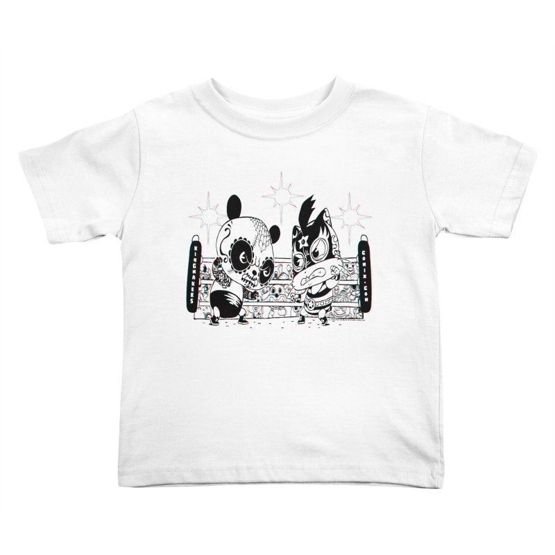 Panda Kid Vs. Mikey Kids Toddler T-Shirt by KINGMAKERS's Artist Shop