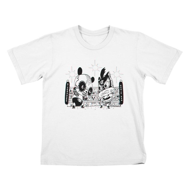 Panda Kid Vs. Mikey Kids T-Shirt by KINGMAKERS's Artist Shop